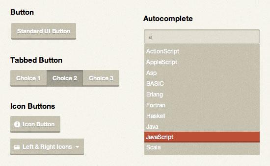 设计达人 - 复古风格jQuery UI