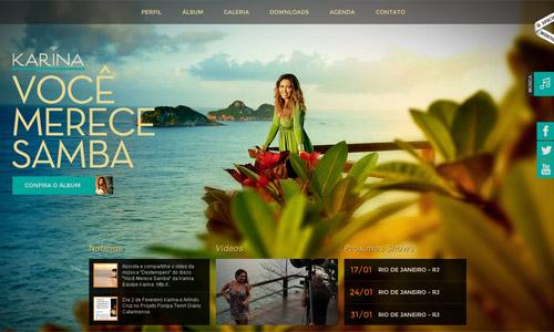 绿色配色的网页设计作品