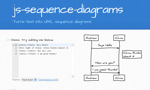 时序图生成工具js-sequence-diagrams