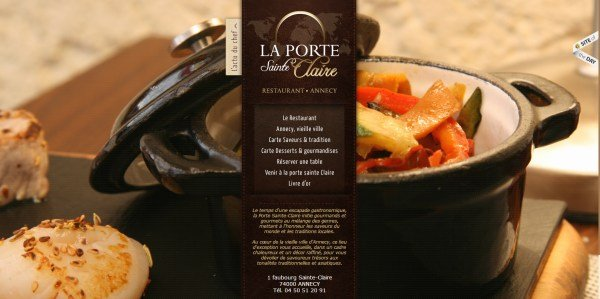 全屏网页设计La Porte Sainte Claire