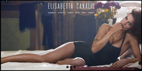全屏网页设计Elisabetta Canalis