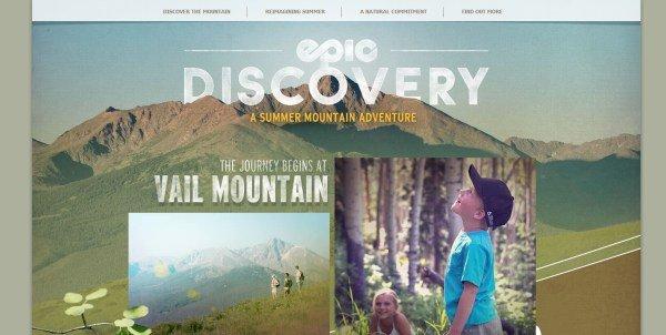 全屏网页设计Epic Discovery