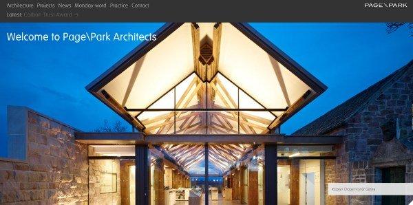 全屏网页设计Page/Park Architects