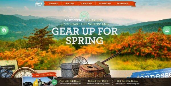 全屏网页设计Springtime Tennessee