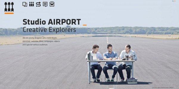 全屏网页设计Studio AIRPORT