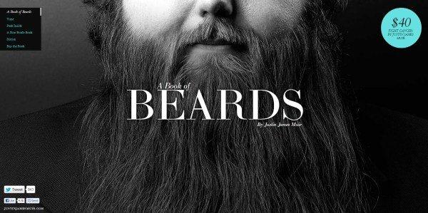 全屏网页设计A Book of Beards