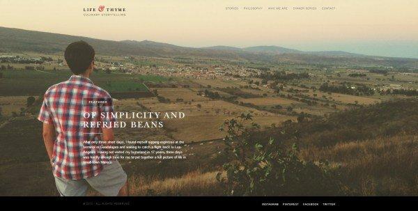 全屏网页设计Life & Thyme