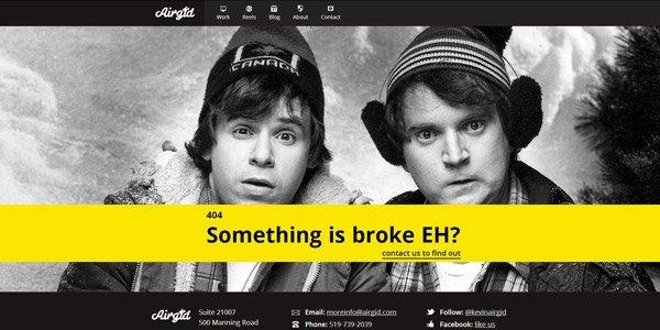airgid 404页面设计欣赏