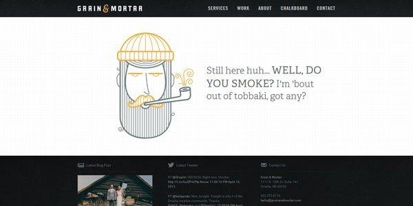 grain and mortar 404页面设计欣赏