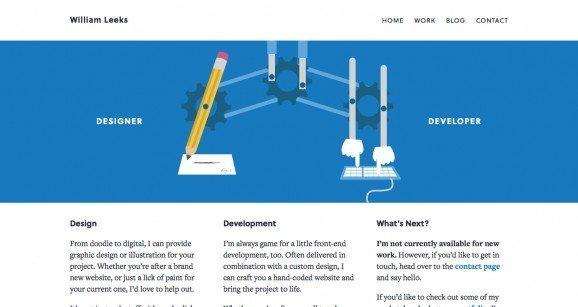 扁平化网页设计William Leeks