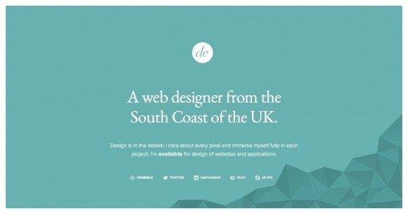 扁平化网页设计Dan Edwards