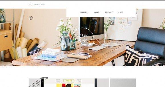 扁平化网页设计Eva Black Design