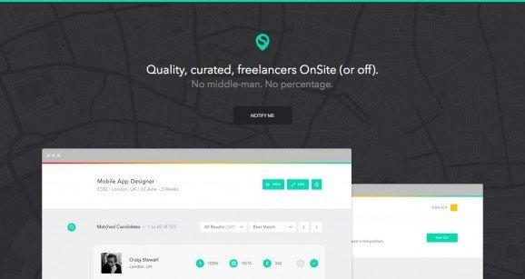 扁平化网页设计OnSite