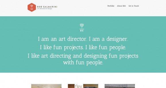 扁平化网页设计Bob Galmarini