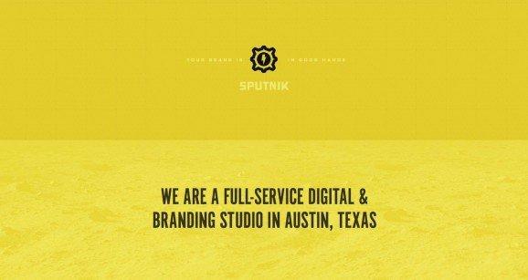 扁平化网页设计Sputnik Creative