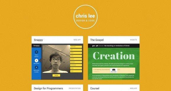 扁平化网页设计Chris Lee
