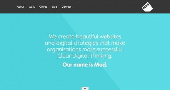 扁平化网页设计Mud