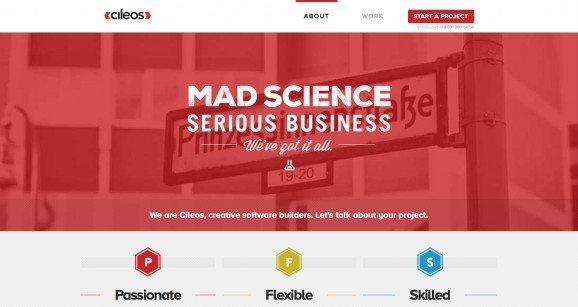 扁平化网页设计Cileos