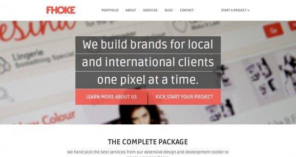 扁平化网页设计FHOKE