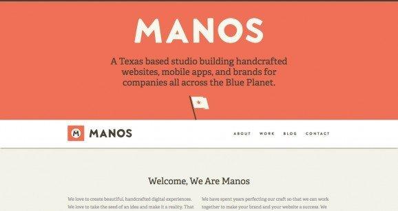 扁平化网页设计Manos