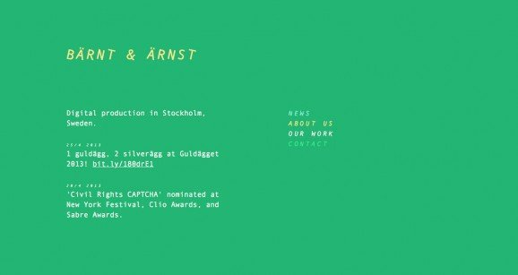 扁平化网页设计Barnt Arnst