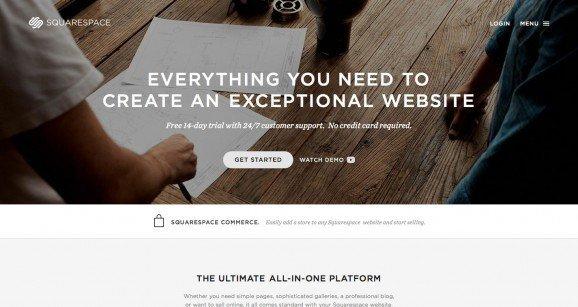 扁平化网页设计Squarespace