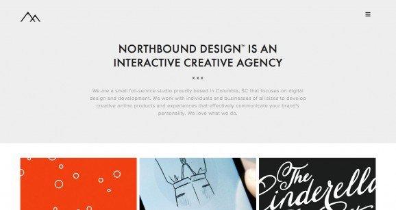 扁平化网页设计Northbound Design