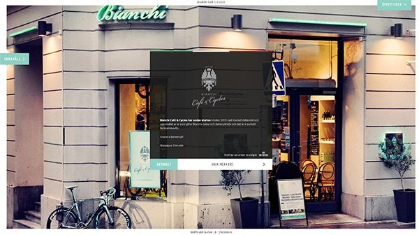 Bianchi in Showcase of Turquoise Websites