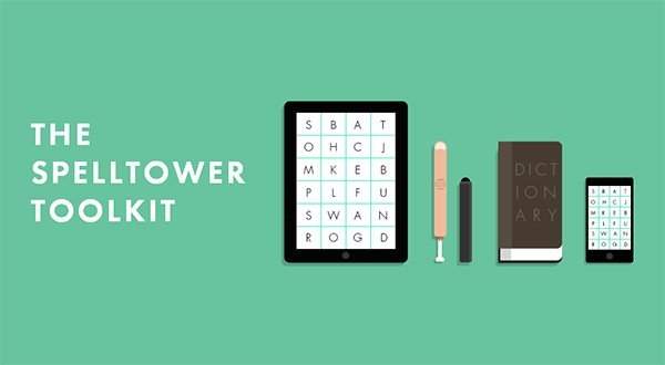 SpellTower in Showcase of Turquoise Websites