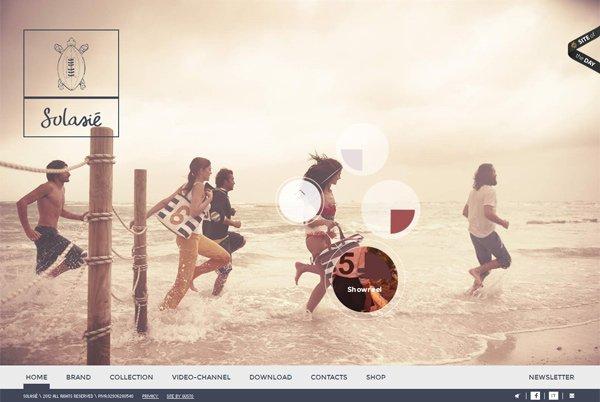 Solasie - 柔和色彩的网页设计