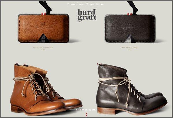 Hard Graft - 柔和色彩的网页设计