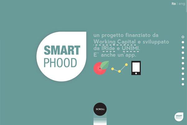 Smart Phood - 柔和色彩的网页设计