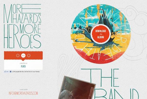 Morehazards - 柔和色彩的网页设计