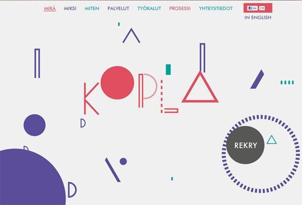 Kopla - 柔和色彩的网页设计