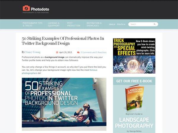 Photodoto - 柔和色彩的网页设计