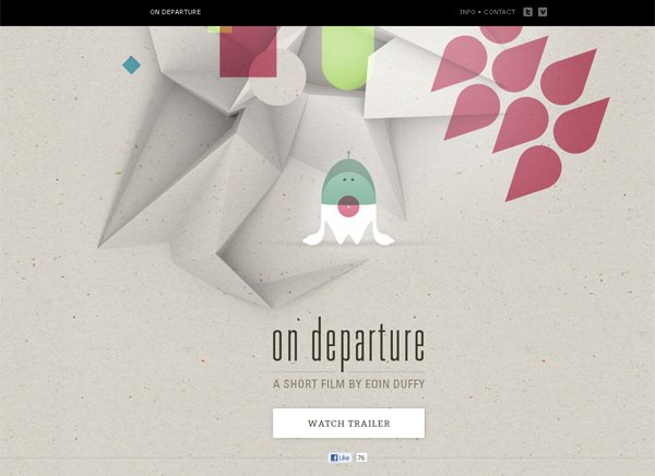 On Departure - 柔和色彩的网页设计