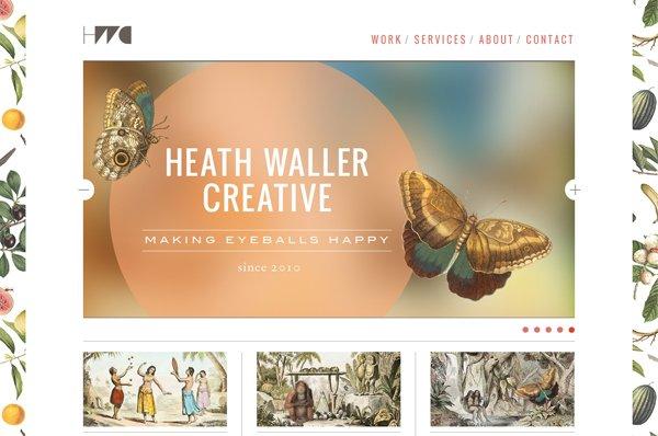 HeathWaller - 柔和色彩的网页设计