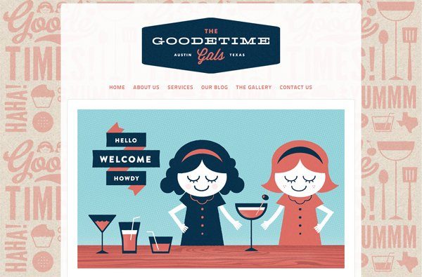 The Goodetime Gals - 柔和色彩的网页设计