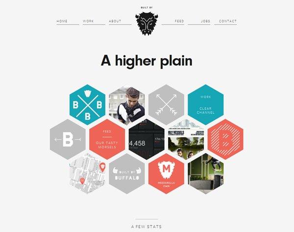 Built by Buffalo - 柔和色彩的网页设计