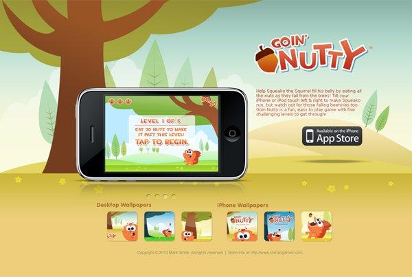 Goin' Nutty - 柔和色彩的网页设计