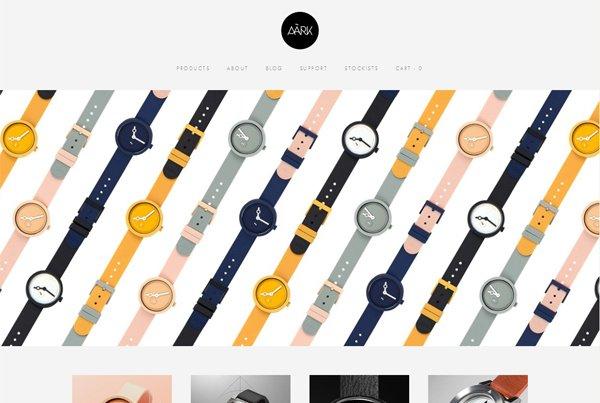 Aark - 柔和色彩的网页设计