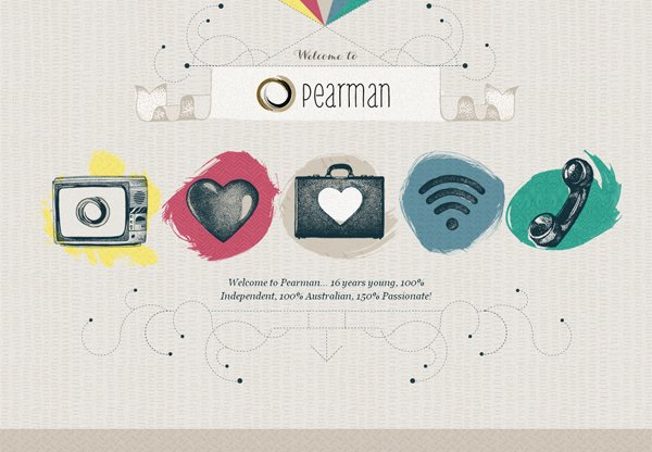 Pearman - 柔和色彩的网页设计