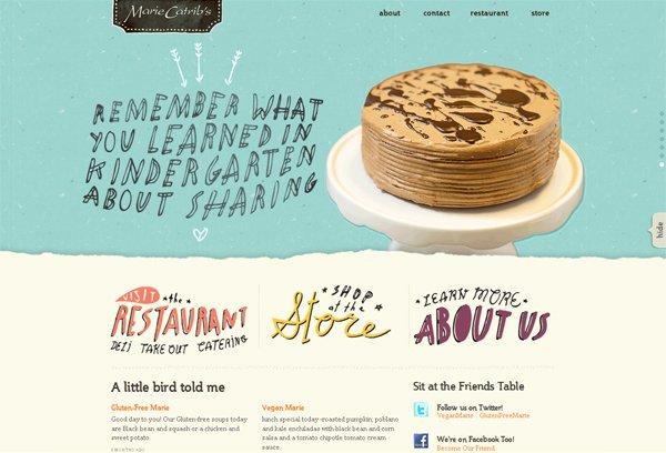Mariecatribs - 柔和色彩的网页设计