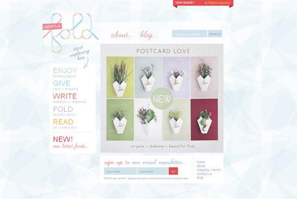 Upon a Fold - 柔和色彩的网页设计