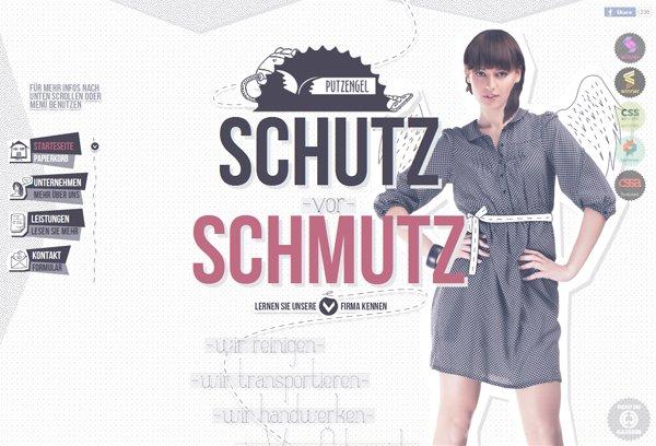 Putzengel - 柔和色彩的网页设计