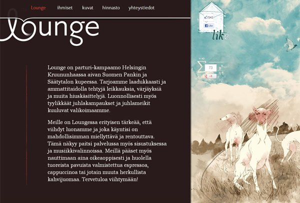 The Lounge - 柔和色彩的网页设计