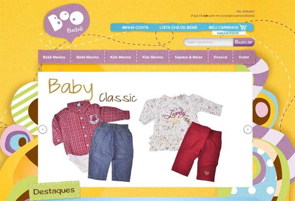 Boo Bebe - 柔和色彩的网页设计