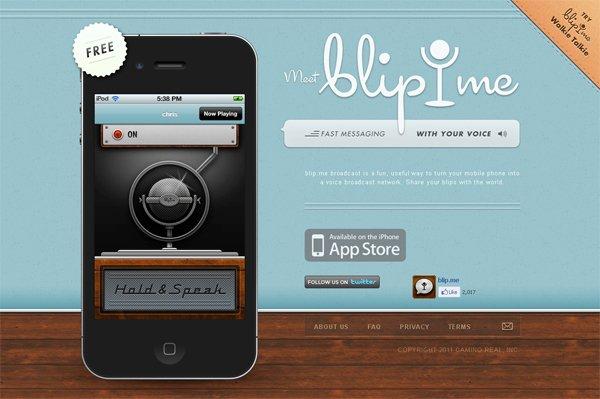 Blip - 柔和色彩的网页设计