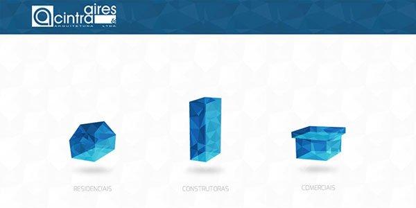 Aires-Cintra-Arquitetura 多边形网页设计Polygon web desig