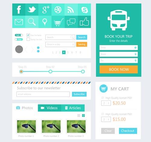 扁平化设计UI KIT素材-3